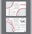 design of the two un folding brochure with red vector image vector image