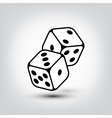 dices icon vector image