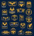 eagle icons heraldic badges corporate identity vector image