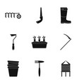 farm tool icon set simple style vector image
