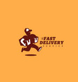 fast delivery service logo vector image vector image