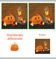 find the ten differences between the two images vector image vector image