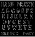 font alphabet letters in grunge dirty style hand vector image vector image