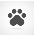 Footprint paw trendy icon vector image vector image