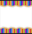 frame made of multicolor wooden pencils rows vector image vector image