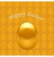 Gold Easter Eggs vector image vector image