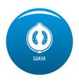 guava icon blue vector image vector image