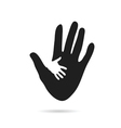 hand black and white vector image vector image