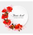 Holiday background with red flowers vector image
