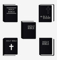 holly bible book pictogram set icons isolated vector image vector image