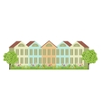 Houses and garden vector image vector image