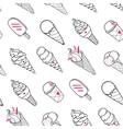 Ice Cream Pattern Black White vector image vector image