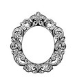 imperial baroque mirror round frame french vector image vector image