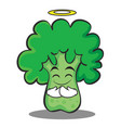 innocent broccoli chracter cartoon style vector image vector image