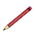isolated study pencil vector image vector image