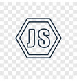 java script concept linear icon isolated on vector image