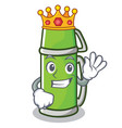 king thermos character cartoon style vector image vector image