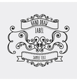 Label and decoration icon Hand draw design vector image vector image