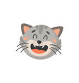laughing kitten head isolated cat emoji muzzle vector image vector image