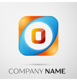 Letter O logo symbol in the colorful square on vector image vector image