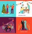 party concept set vector image vector image