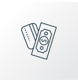 payments option icon line symbol premium quality vector image vector image