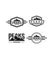 peaks adventure logo vector image