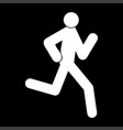 running man - stick icon vector image vector image