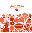 scandinavian hand drawn fruit design template vector image vector image