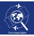 search the airline tickets vector image vector image