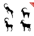 set black silhouette goats icon isolated vector image vector image