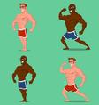 set bodybuilders vector image vector image
