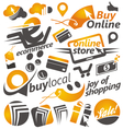 Set of shopping icons signs and symbols vector image
