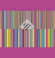 set seamless striped colorful patterns vector image vector image