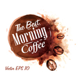 Set Watercolor Coffee Badges 2 vector image vector image