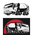 silhouette concrete mixer cement truck vector image