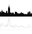 silhouette of city 4 vector image vector image