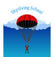skydiving school academy parachutist extreme spo vector image vector image