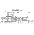 spain cordoba architecture line skyline vector image vector image
