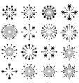 starbursts black symbols vector image vector image