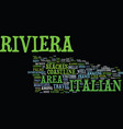 the beautiful italian riviera text background vector image vector image
