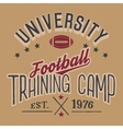 University football training camp vector image vector image