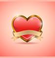 valentine heart badge flag emblem vector image vector image