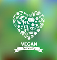 vegetarian and vegan healthy organic background vector image vector image
