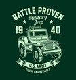 vintage american military jeep graphic vector image vector image
