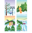 winter holidays landscape vector image vector image