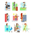 Women Lifestyle in Flat Style vector image vector image