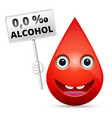 zero level of blood alcohol content - isolated vector image