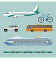 Fast transportation means set of modern transport vector image
