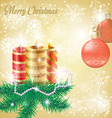 Christmas background with fir branches vector image